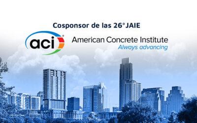 ACI (American Concrete Institute) será COSPONSOR de las 26° Jornadas Argentinas de Ingeniería Estructural